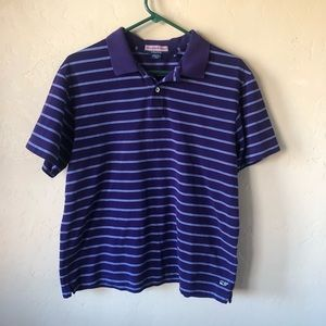 Vineyard Vines Purple Striped Polo Sz Med